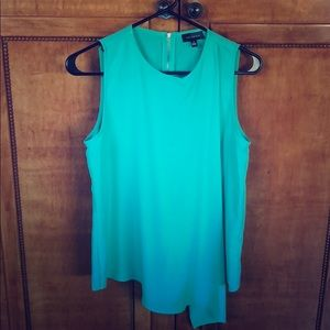Sleeveless seafoam green blouse